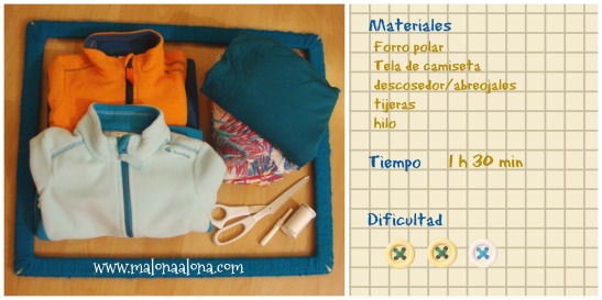 materiales chaleco